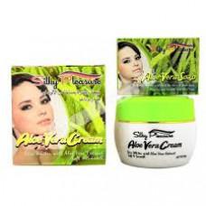 """Крем для лица с Алоэ Вера отбеливающий """"Silky Pleasure Aloe Vera Cream"""" 80 гр. мыло в подарок."""
